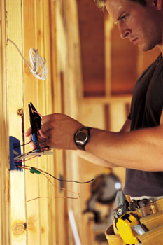 Man - Contact our electricians in Lakeland, Tennessee, for full service building wiring, remodeling, and electrical services.
